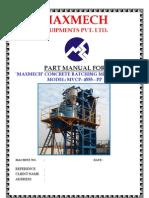 Mvcp-4555-Pp Part Manual for Bp -Maxmech