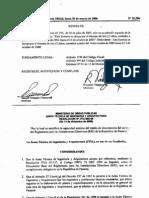 Por la cual se modifica la capacidad mínima del medio de desconexión del servicio del Reglamento para las Instalaciones Eléctricas (RIE) de la República de Panamá