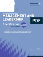 BTEC L5 Management and Leadership Spec