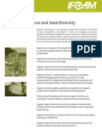 Organic Agriculture and Seed Diversity