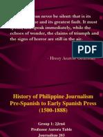 Pre- history Philippine Journalism
