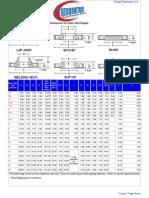 ASTM Flange Dimensions