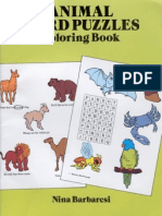 Animal Word Puzzles Coloring Book - 49p