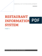 Restaurant is Report Parts 1 and 2