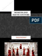 Museums and Haute Couture