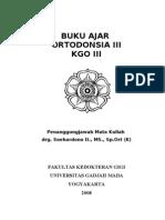 Buku Ajar Orto III Th 2008