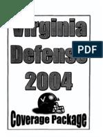 2004 University of Virginia Defensive Coverage Packages