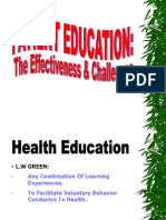 Patient Education (Effectiveness & Challenges)