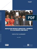 World Bank Kenyan Devolution - Executive Summary