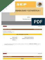 Probabilidad y estadística I SEP