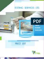 testing price