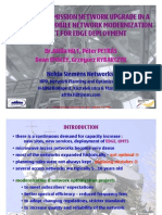 ACCESS TRANSMISSION NETWORK UPGRADE IN A NATIONWIDE MOBILE NETWORK MODERNIZATION PROJECT FOR EDGE DEPLOYMENT
