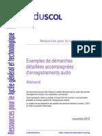 Exemples de démarches détaillées et simulation expression orale type (baccalauréat allemand 2013)