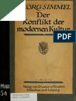 Georg Simmel - Der Konflikt Der Modernen Kultur