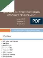 Strategic Human Resource Development