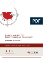 Canada and the Five Eyes intelligence community
