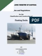 Rules Floating Docks - 2009