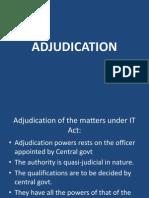 Adjudications of Cyber Disutes  inIndia