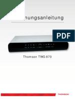Bedienungsanleitung WLAN-Modem Thomson TWG870