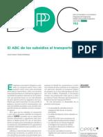 El ABC de Los Subsidios Al Transporte, Castro y Szenkman, 2012