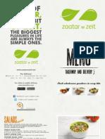 Zaatar W Zeit Delivery Menu