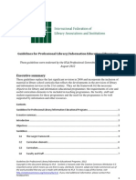 Guidelines for Professional Library/Information Educational Programs - 2012