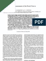 Duplex Doppler Measurement s of the PV in Portal Hypertension