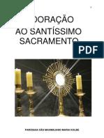 Adoração ao santissimo sacramentro