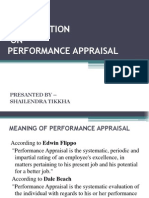 Ppt of Performance Appraisal of Shailendra