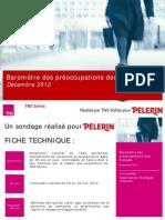 Baromètre des préoccupations des Français - décembre 2012