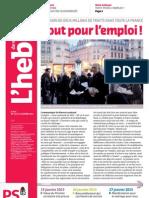 L'hebdo des socialiste n°677 - Tout pour l'emploi !