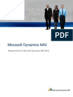 System Requirements Microsoft Dynamics NAV 2013