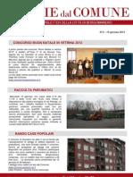 Notizie dal Comune di Borgomanero del 10 Gennaio 2013