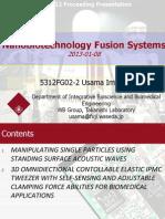 2012-01-08 Usama Imtiaz 5312FG02-2 Nanobiotechnology Presentation
