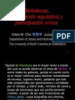 """""""Bibliotecas, Información Equitativa y Participación Cívica"""""""