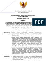 Perbawaslu Nomor 16 Tahun 2012 ttg Verifikasi Partai Politik Pileg