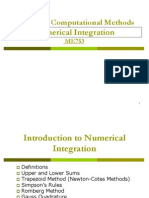 Numerical Integration Lecture