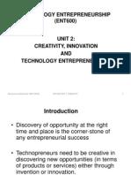 ENT600 Unit 2 Creativity