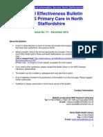 Clinical Effectiveness Bulletin no. 71 December 12