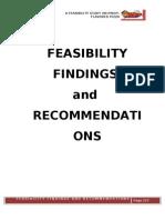 Feasibility Findings