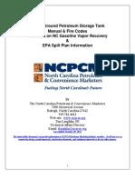 Above-Ground Petroleum Storage Tank Manual & FIre Codes