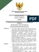 Perbawaslu Nomor 12 Tahun 2012 ttg Penyelenggaraan Sistem Pengendalian Intern Pemerintah