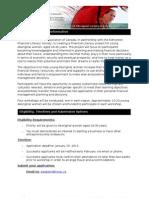 Financial Literacy Workshop Application Form