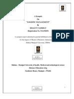Logistics Management Synopsis