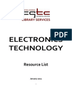 Electronics Technology Library Resources 2011