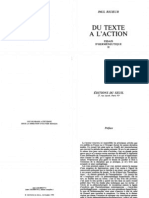 (Collection Esprit )Paul Riceur-Du Texte a l'Action -Editions Du Seuil(1986)
