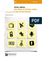 News and New Media in Central Africa—Challenges and Opportunities