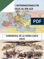 RELAȚIILE INTERNAȚIONALE ÎN SECOLUL AL XIX-LEA