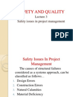 Safety issues in project management