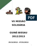 Relatório VII Missão Solidária Guiné-Bissau 2012/2013